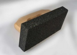 Rubbing brick dressing stone with handle Zische 03