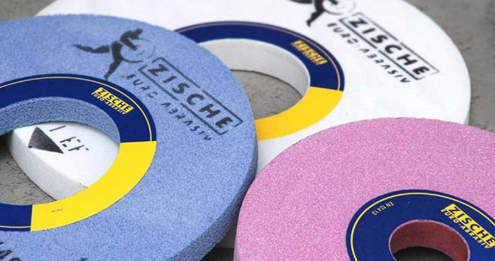 Grinding wheels white blue pink Zische